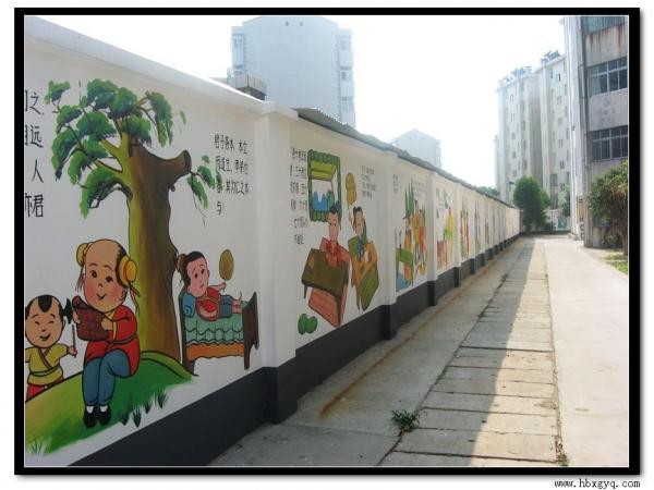 幼儿园国学墙面手绘图