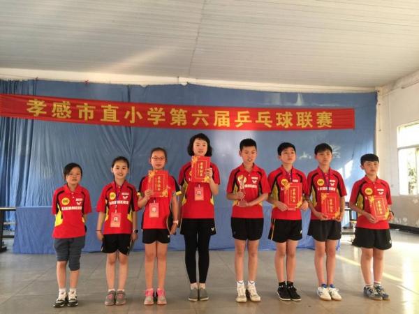 我校学生乒乓球队在孝感市直小学第六届乒乓球联赛中再获佳绩